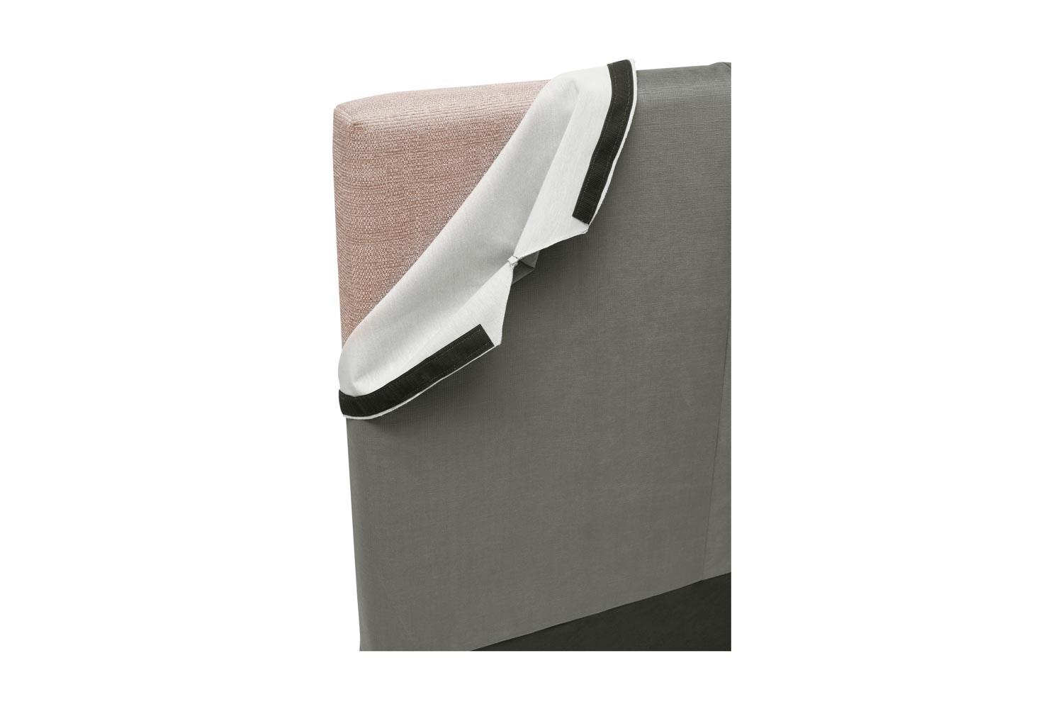 Abbey Headboard Cover |6Ft |Velvet Grey