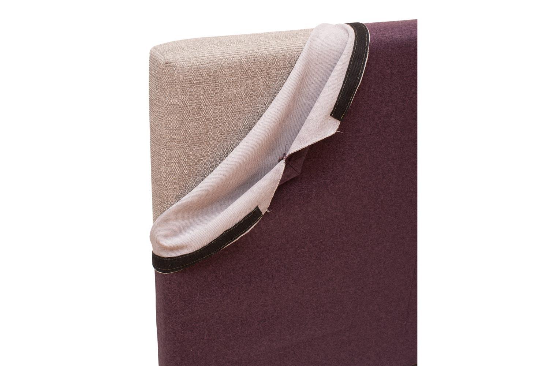 Abbey Headboard Cover  5Ft  Tweed Purple