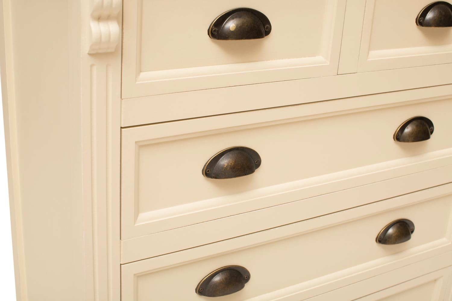 Charlotte 3+2 Chest of Drawers | Cream/Truffle