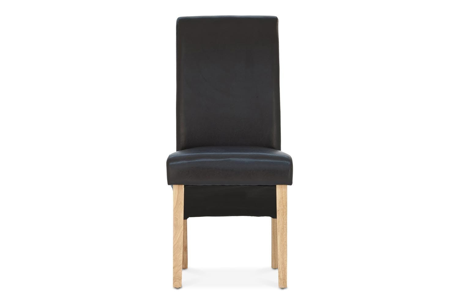 Wilton Dining Chair with Oak Leg | Black