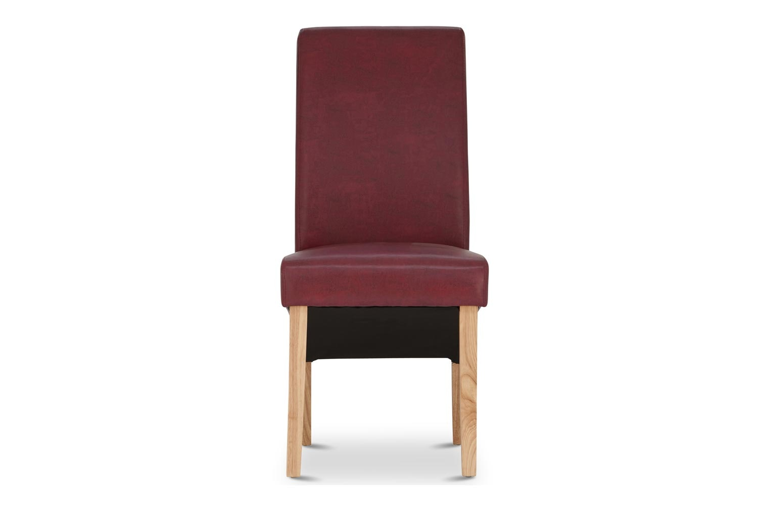 Wilton Dining Chair with Oak Leg | Red