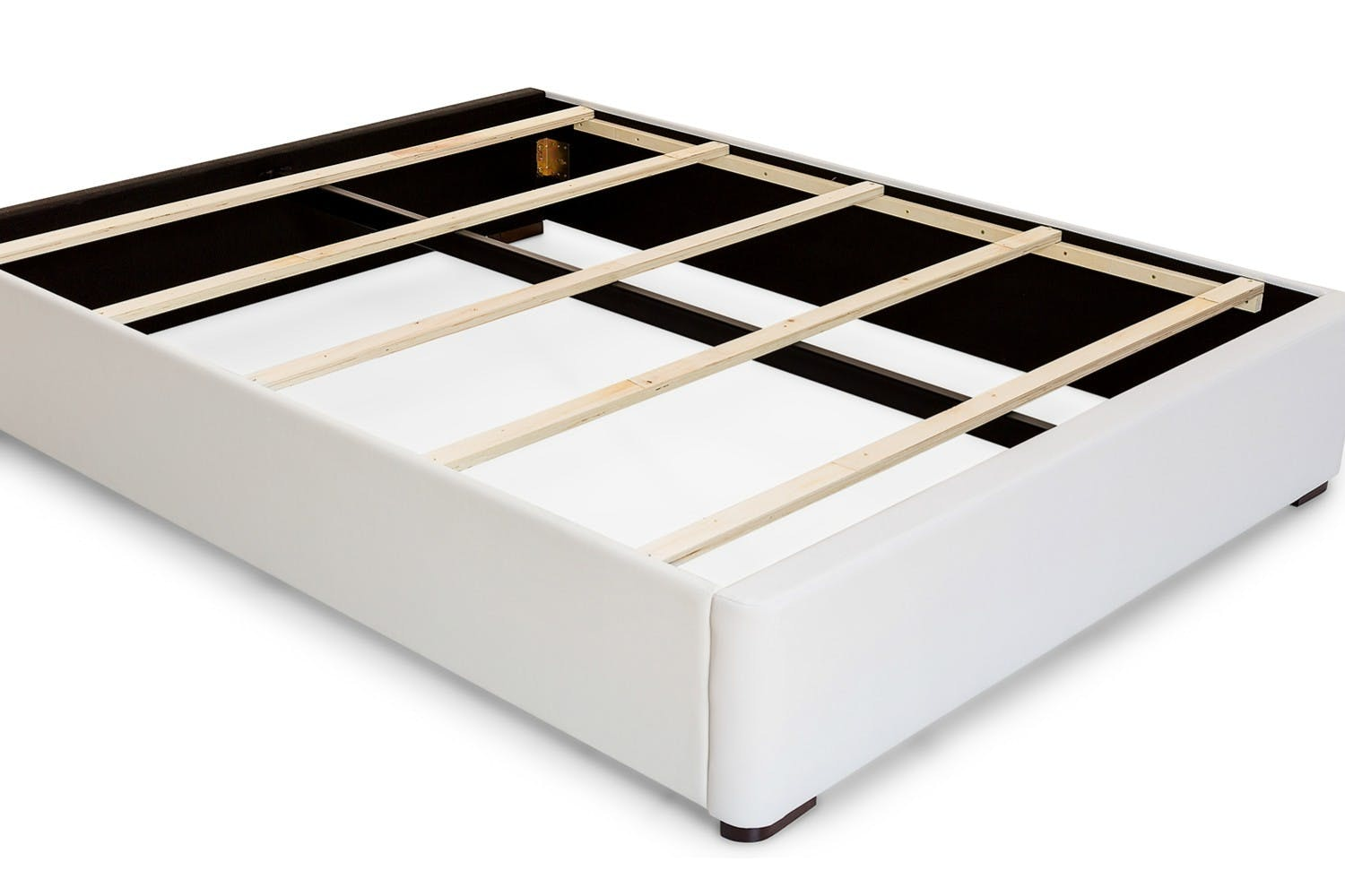 Duval Bed | Scroll Top | White | 4ft6