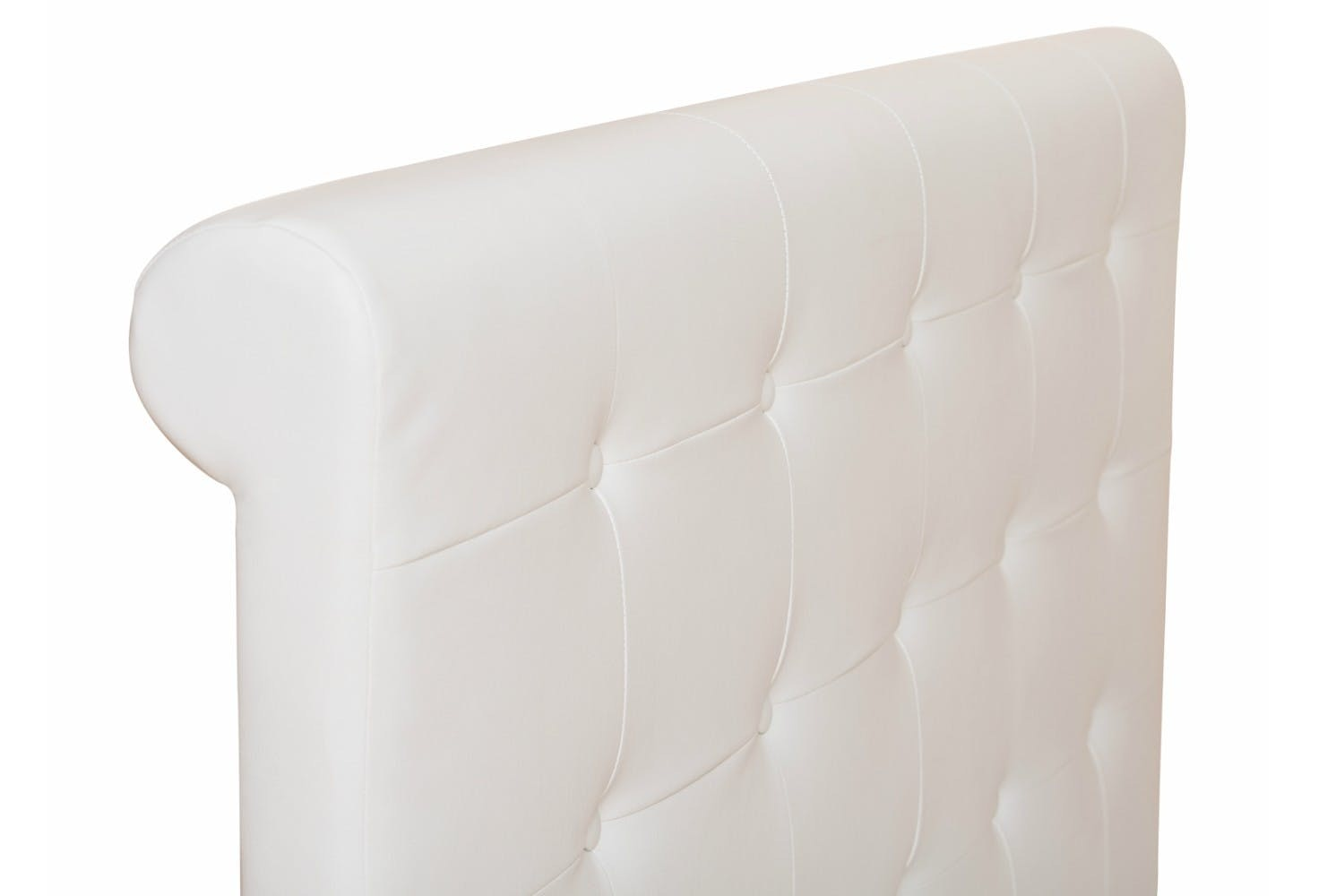 Duval Bed   Scroll Top   White   4ft6