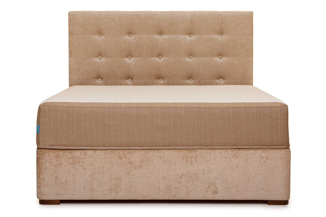 Duval Bed | Tufted Button | Mink | 4ft6