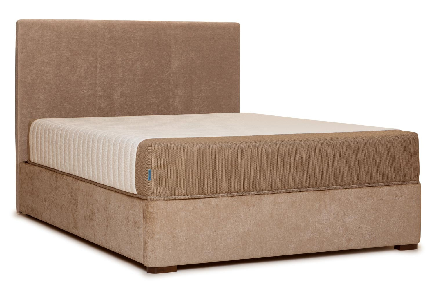 Duval Bed | Vertical Stitch | Mink | 4ft6