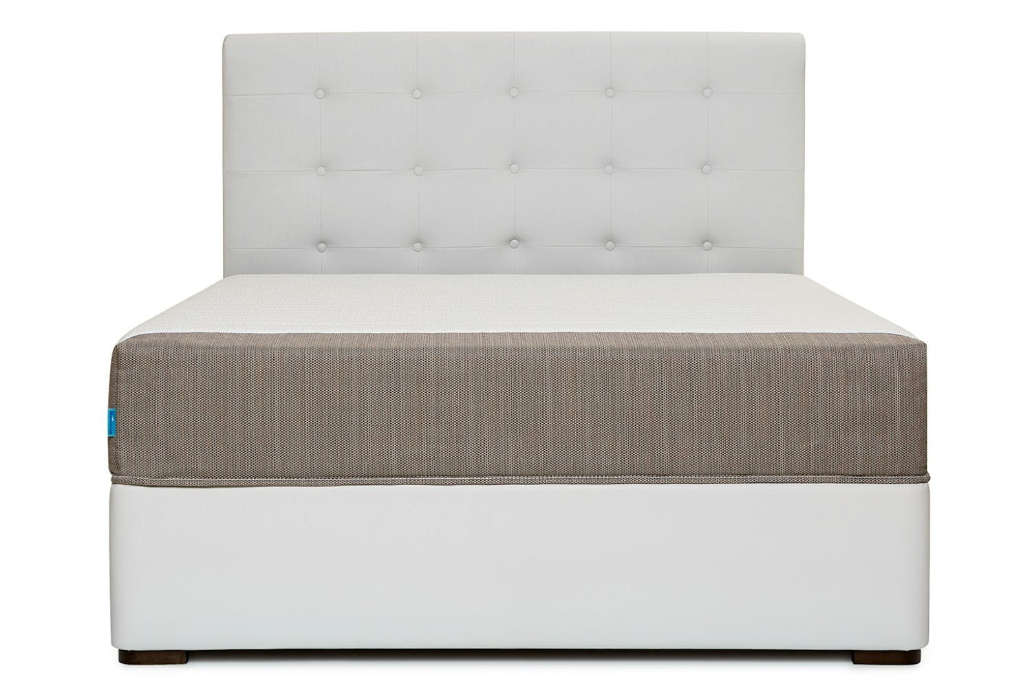 Duval Bed   Tufted Button   White   4ft6