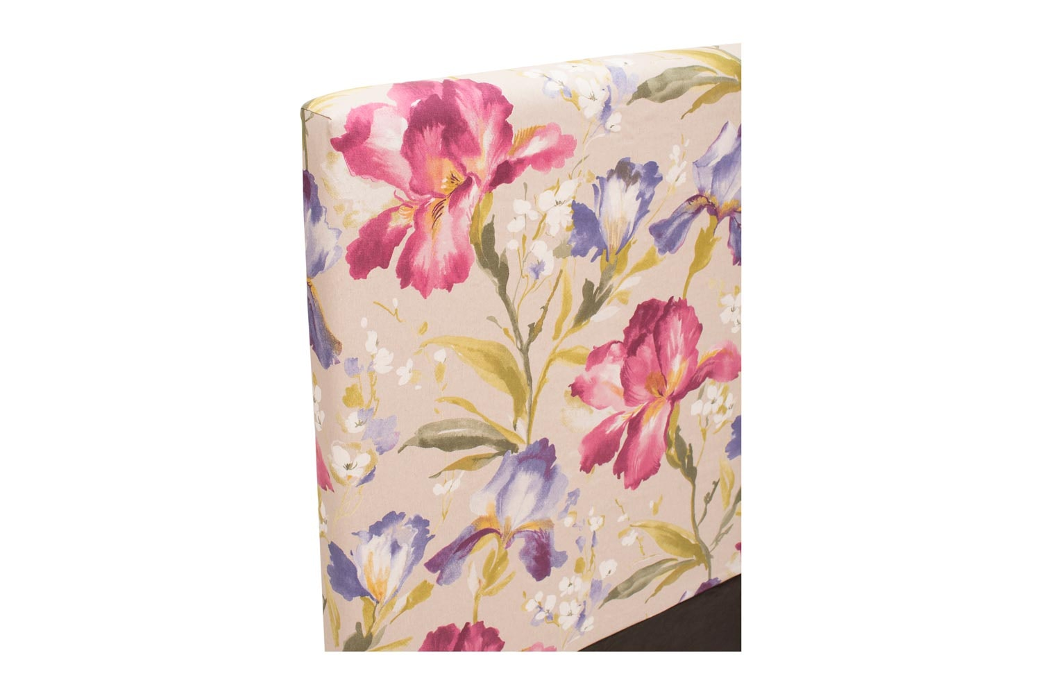 Abbey Headboard Cover |5Ft |Cotton Iris Pink