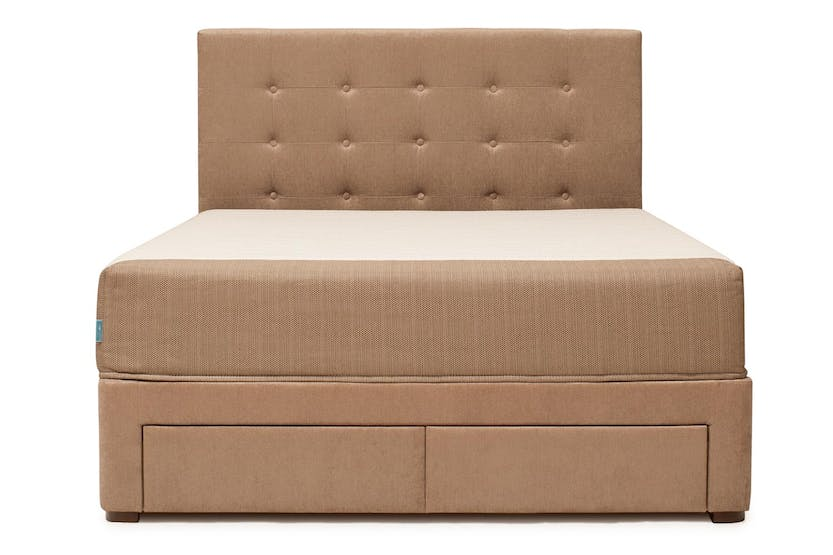 Duval Bed | Tufted Button with Storage | Mink | 5ft