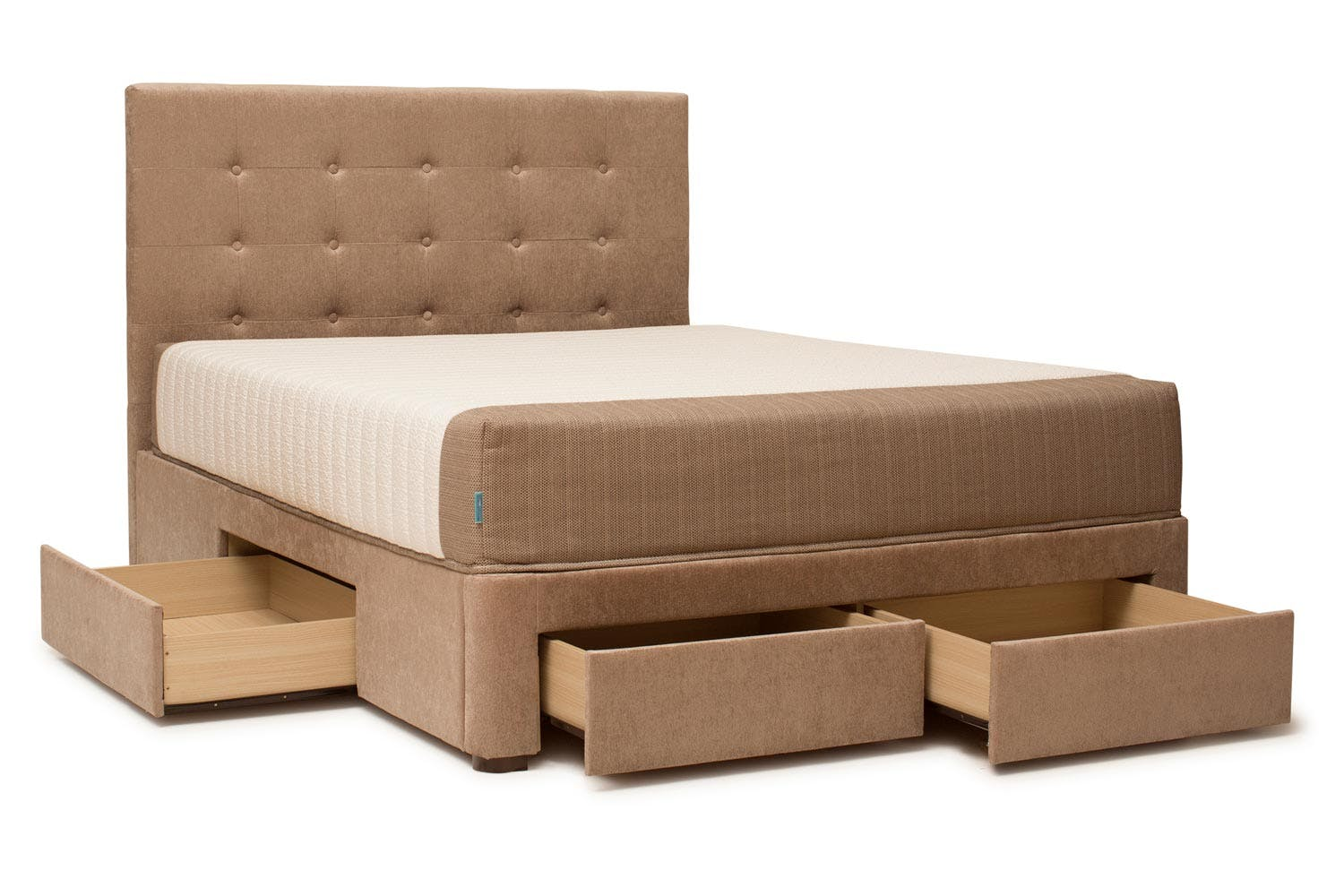 Tufted bed with storage duval bed tufted button headboard for Gnn bathroom fans