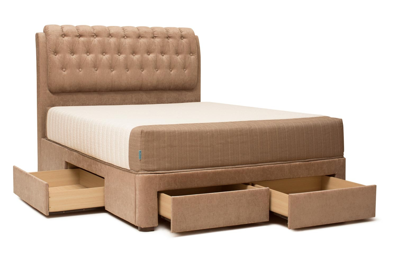 Duval Bed   Regency with Storage   Mink   6ft