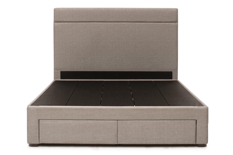 Duval Bed | Horizontal Stitch with Storage | Grey | 4ft6