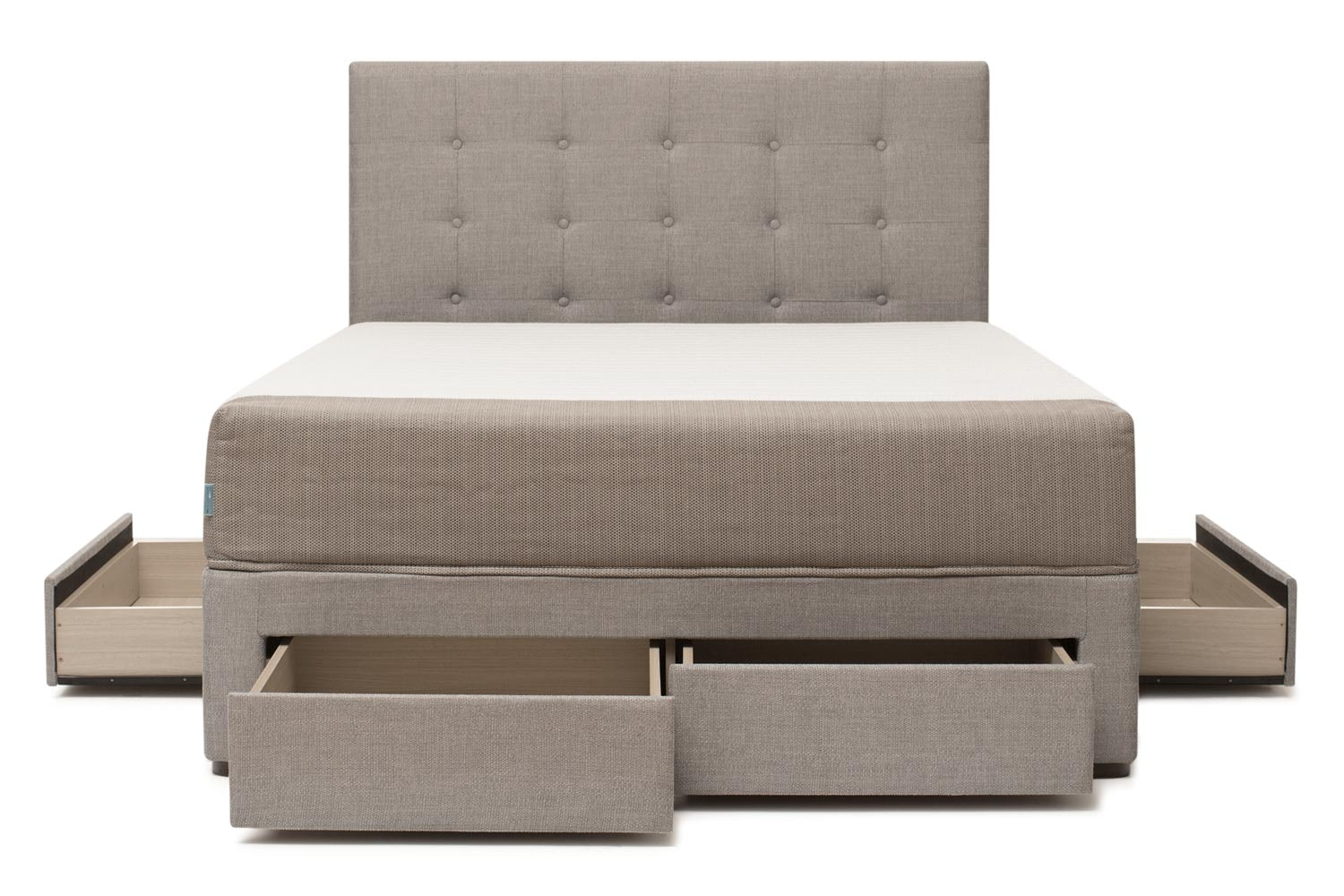 Duval Bed | Tufted Button with Storage | Grey |  4ft6