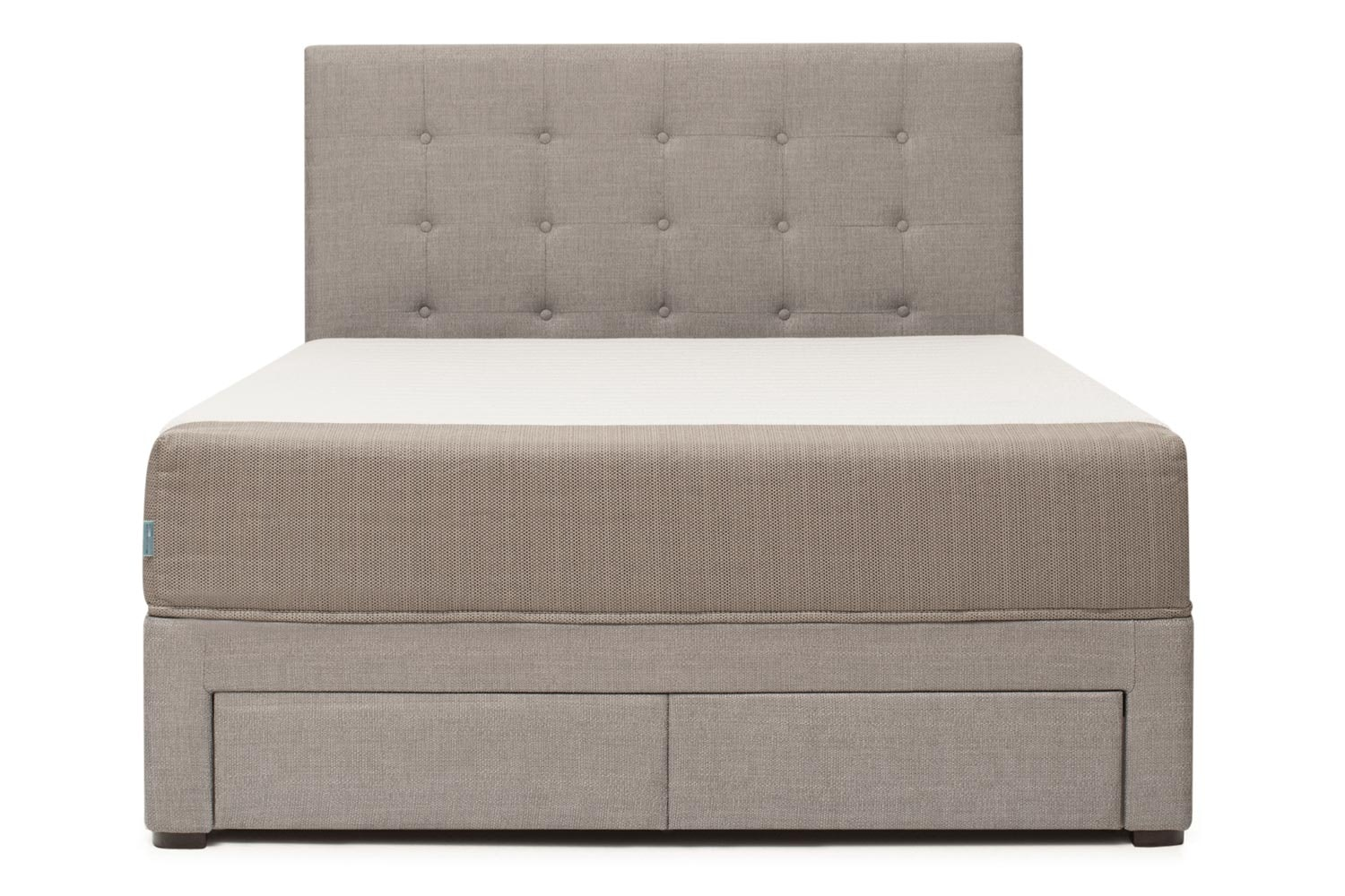 Duval Bed | Tufted Button with Storage | Grey | 5ft