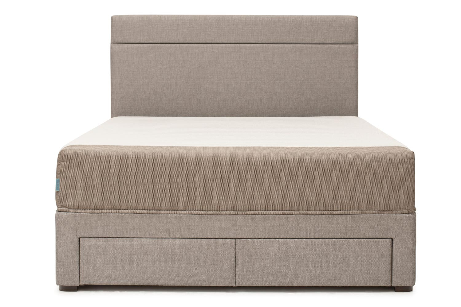 Duval Bed | Horizontal Stitch with Storage | Grey | 4ft6