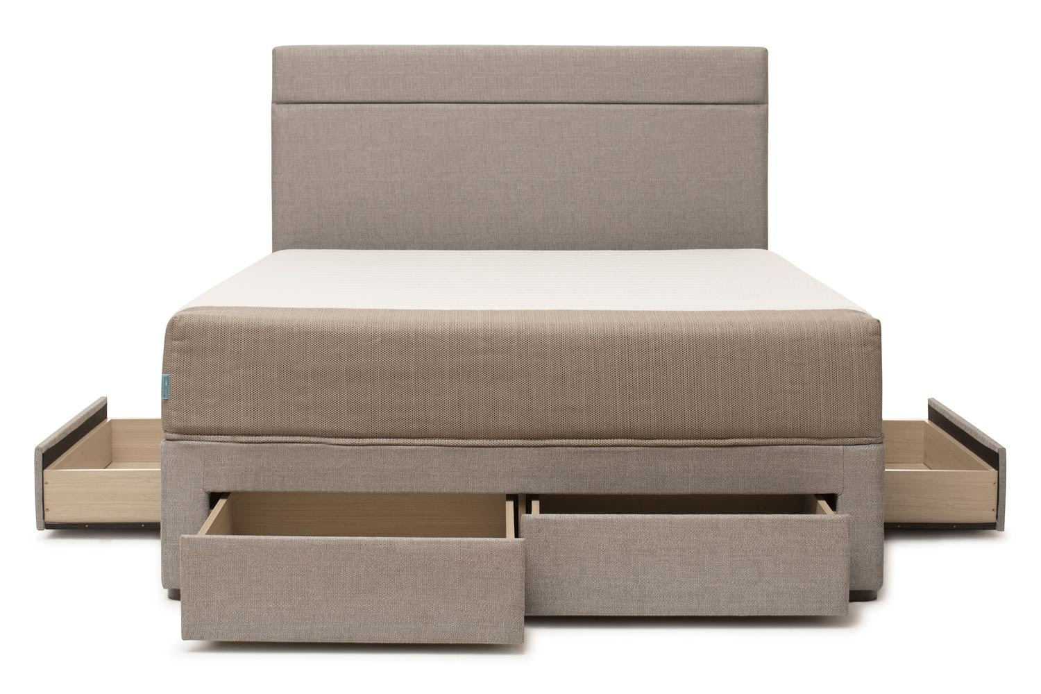 Duval Bed | Horizontal Stitch with Storage | Grey | 6ft