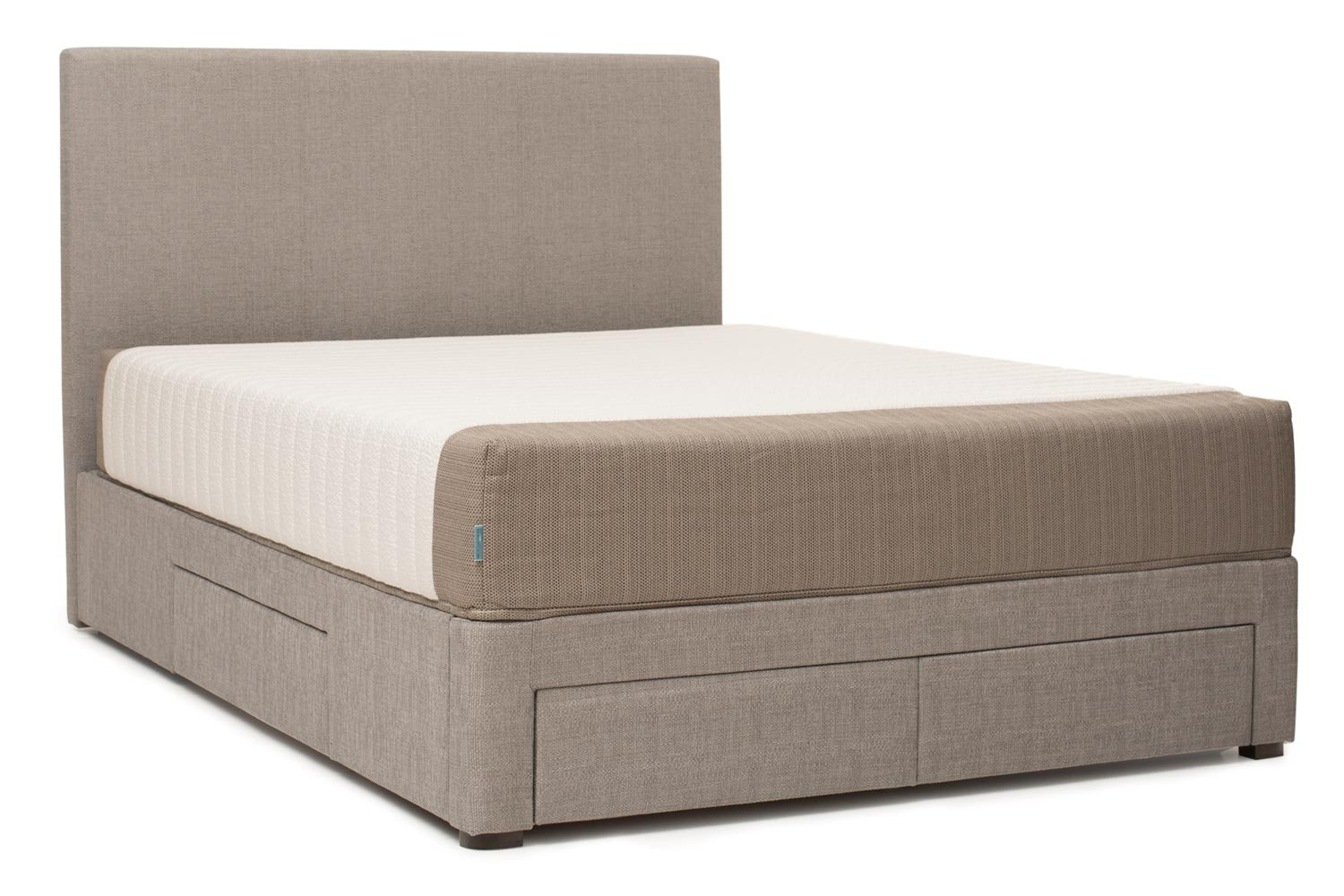 Duval Bed | Vertical Stitch with Storage | Grey | 5ft