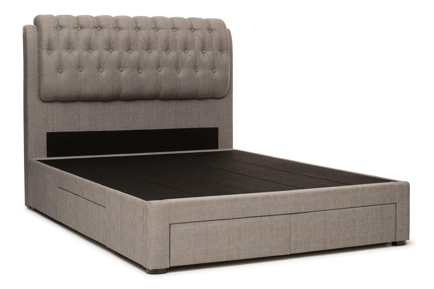 Duval Bed | Regency with Storage | Grey | 5ft