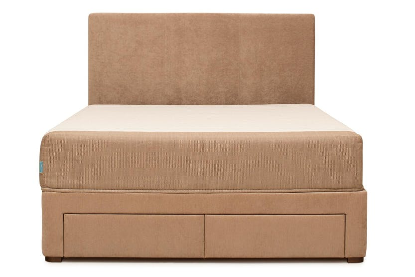 Duval Bed | Vertical Stitch with Storage | Mink | 4ft6