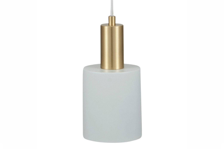 White & Brass Single Drop Pendant