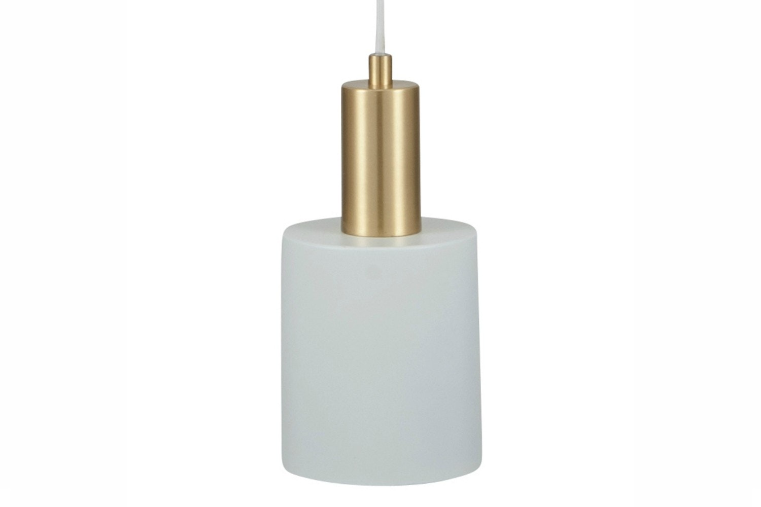 White & Brass Single Drop Pendant