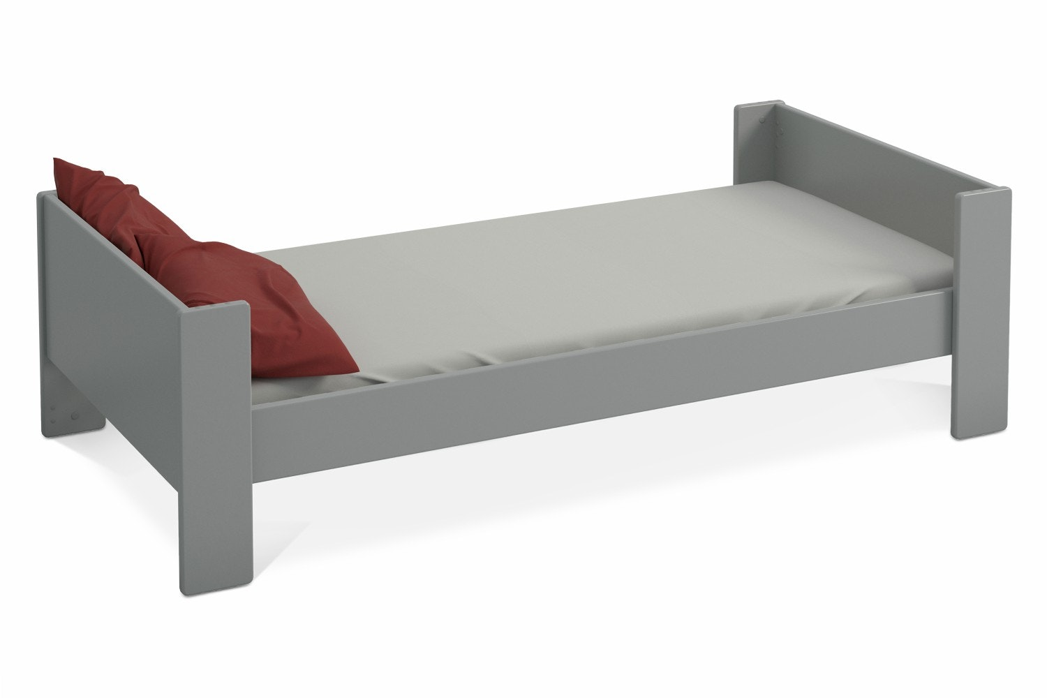 Popsicle Single Bed Frame | Grey