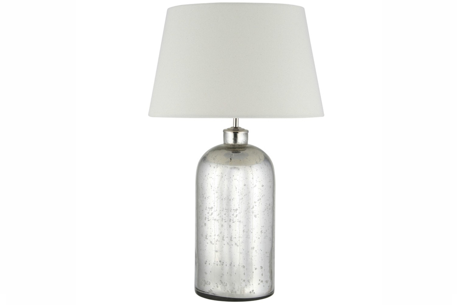 Table Lamp Glass With Cream Shade