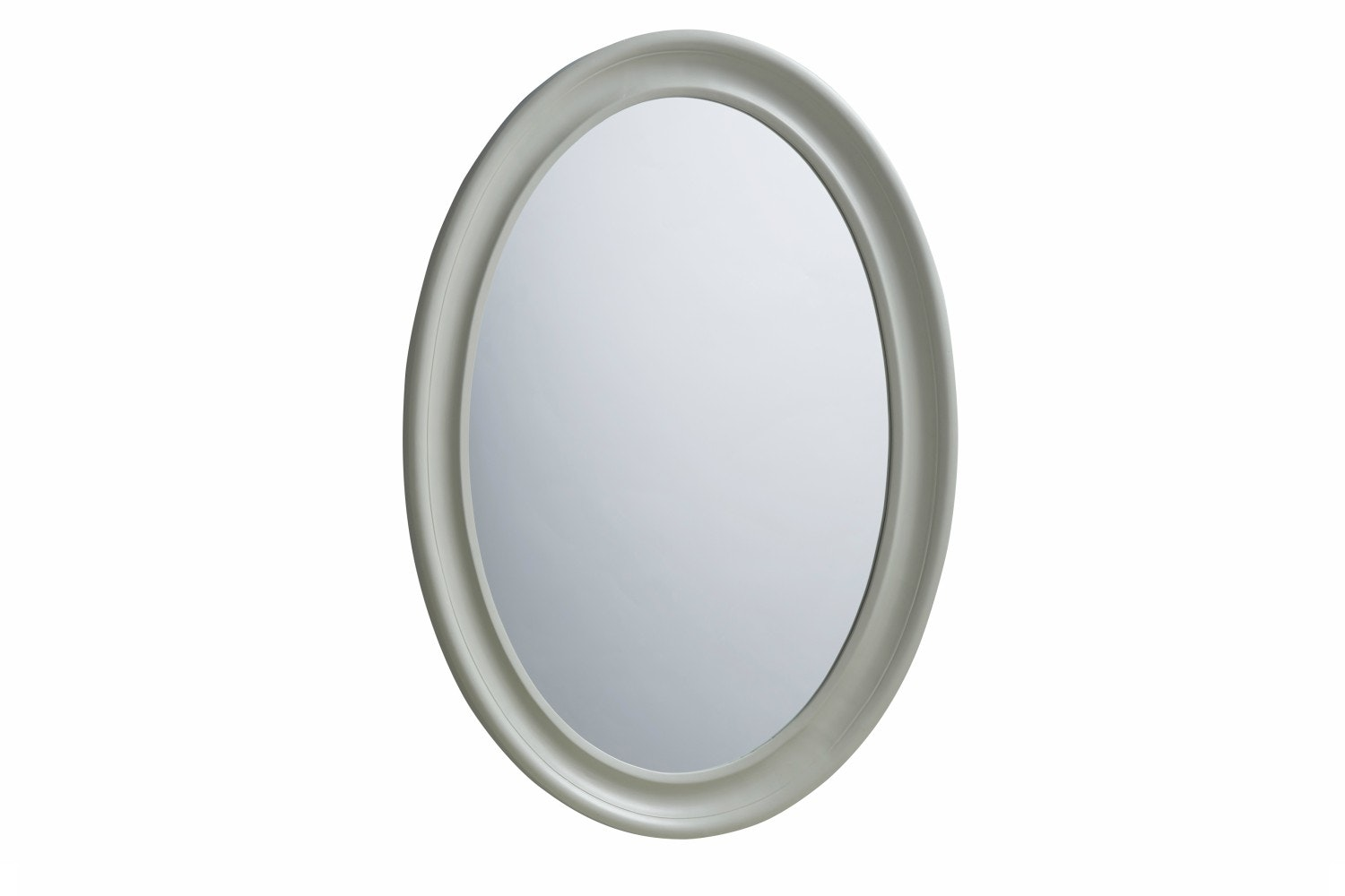 French Oval Mirror | Grey