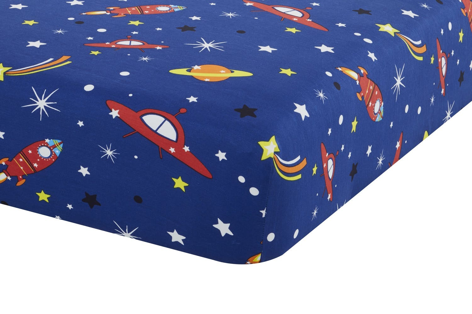 Outer Space 2 Blue Fitted Sheet | Single
