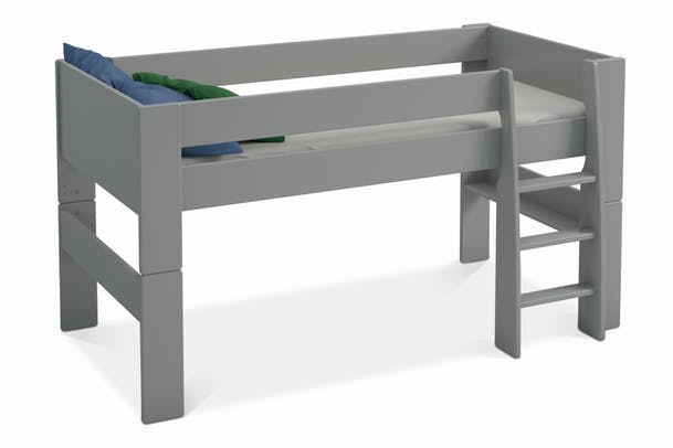 Popsicle Mid Sleeper Bed Frame | Grey