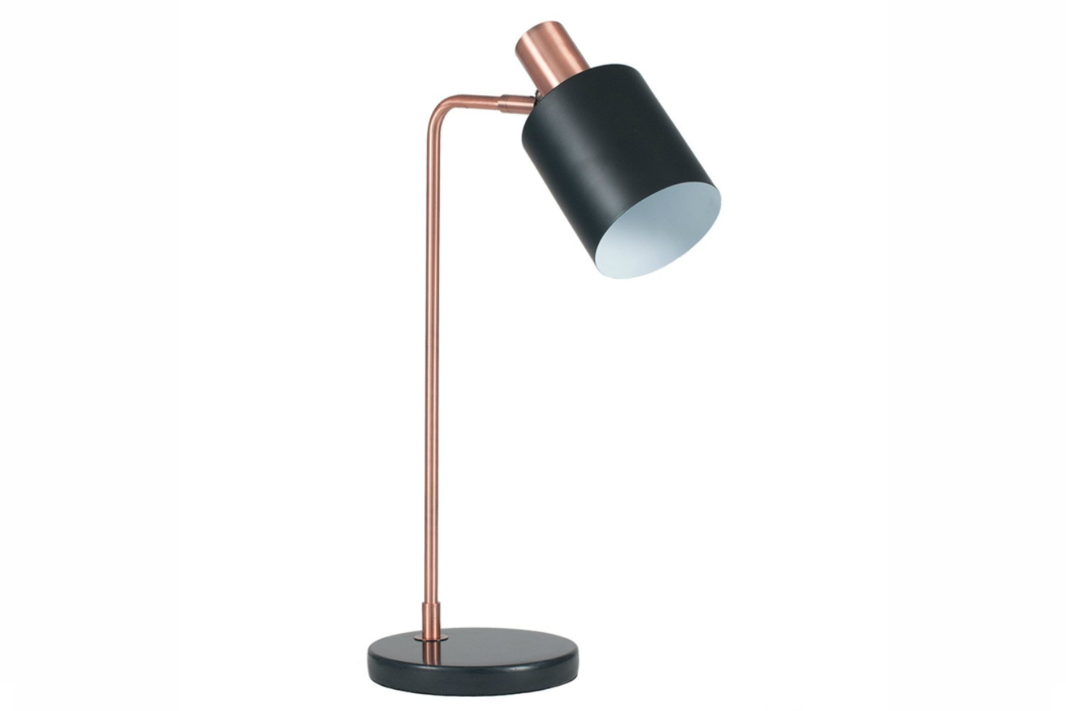 Black & Antique Copper Task Table Lamp