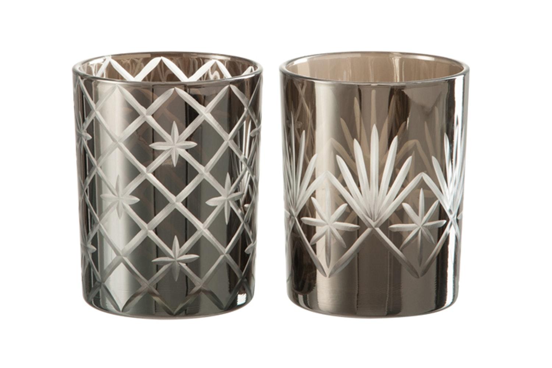 Antique Glass Hurricane | Medium