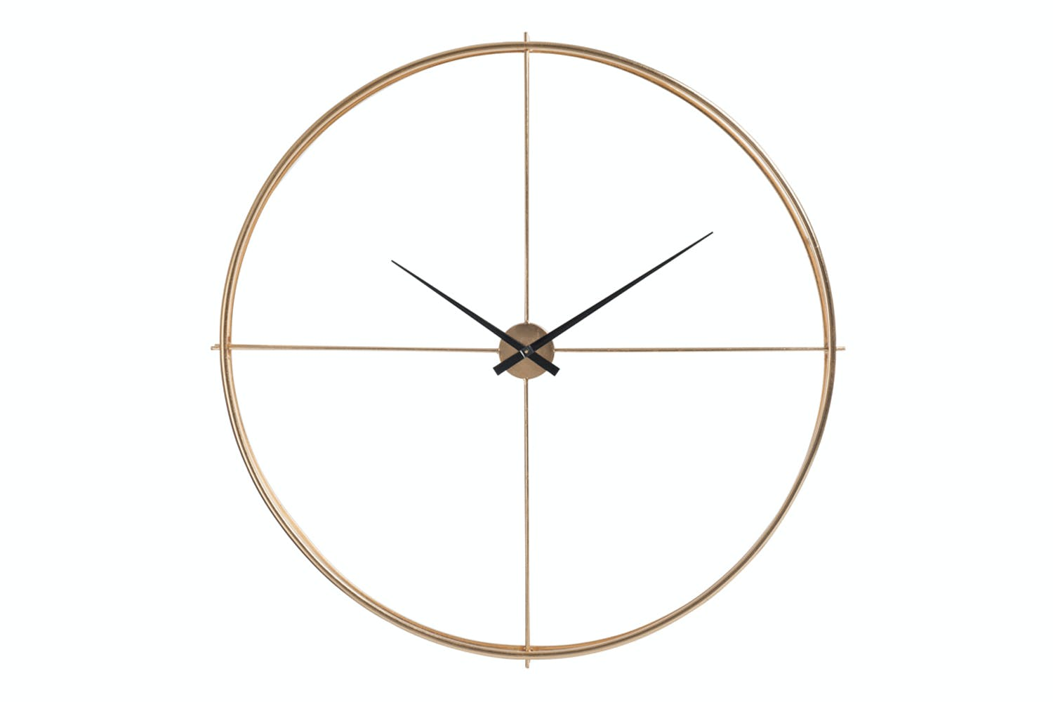 Metal Round Clock | Gold
