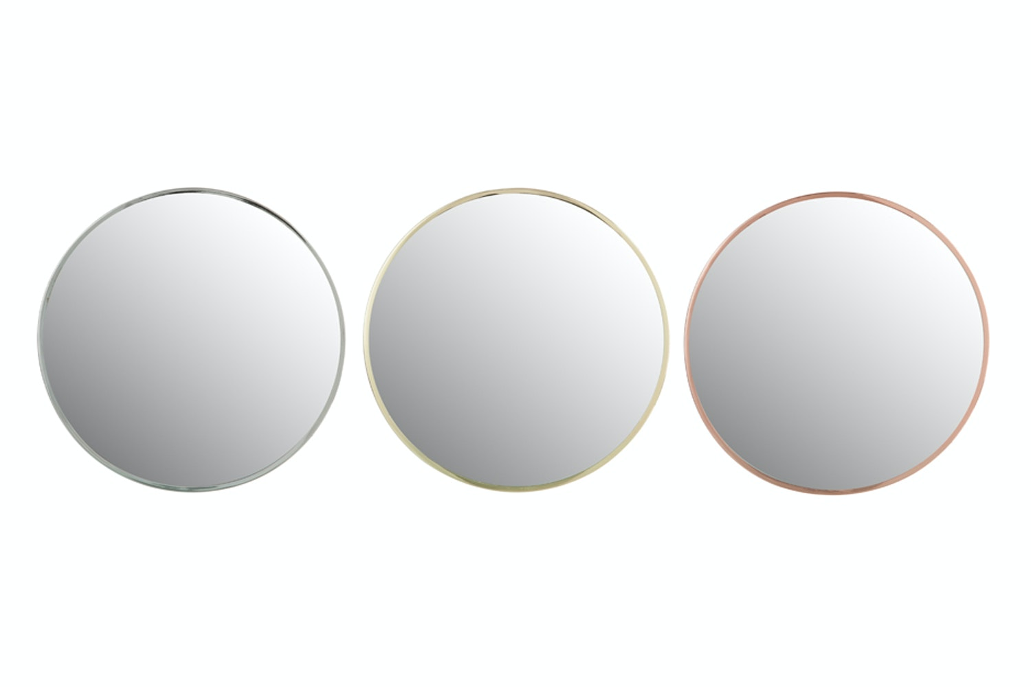 Small Round Mirror in Metal Frame