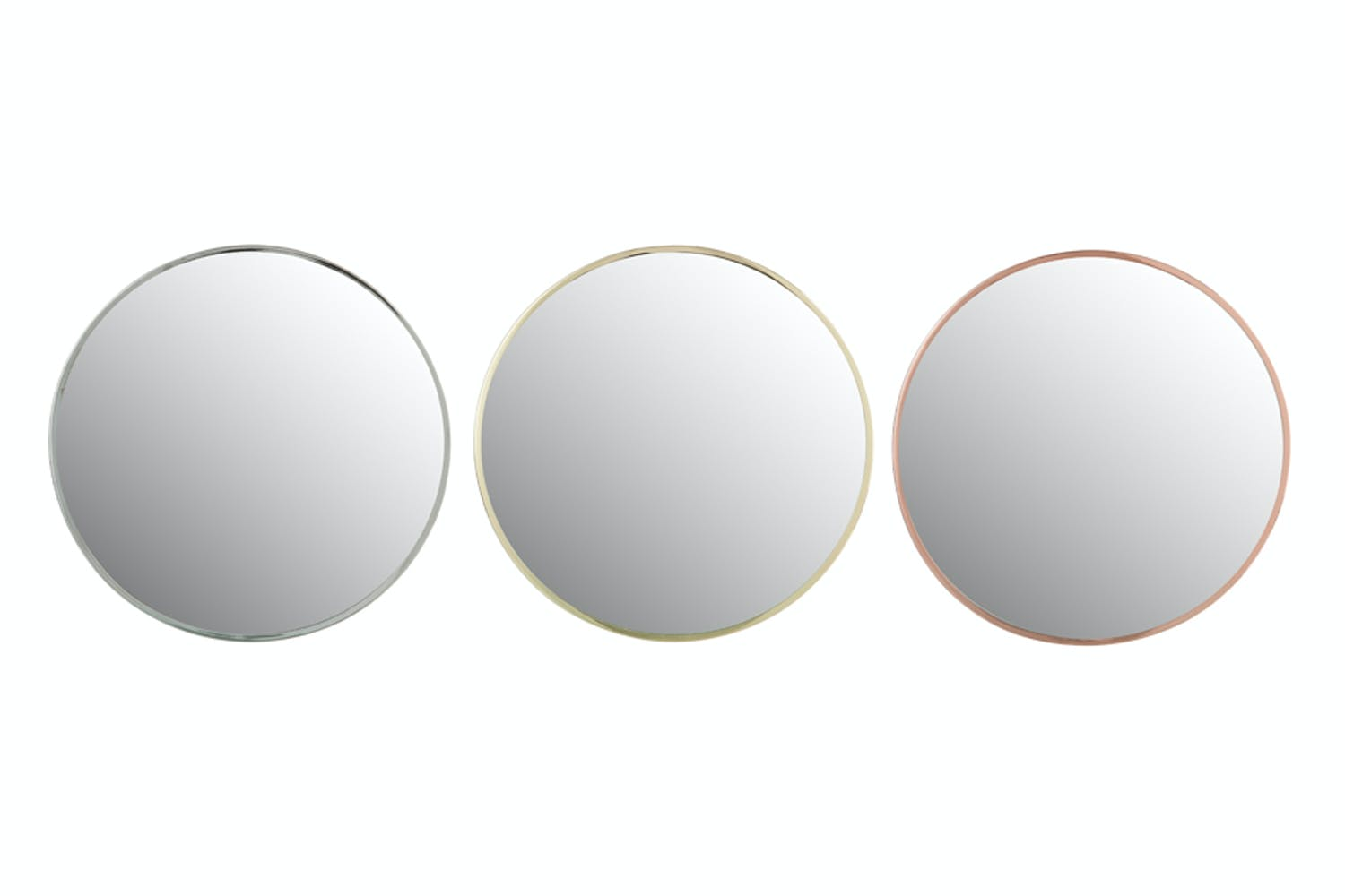 76f356842f40 Small Round Mirror in Metal Frame