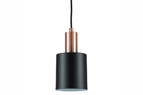 Black & Antique Copper Single Pendant
