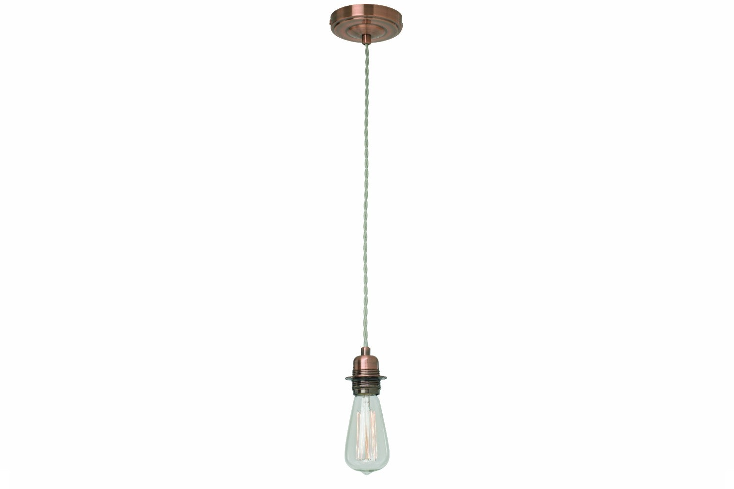Brushed Copper Pendant Fitting Suspension Set
