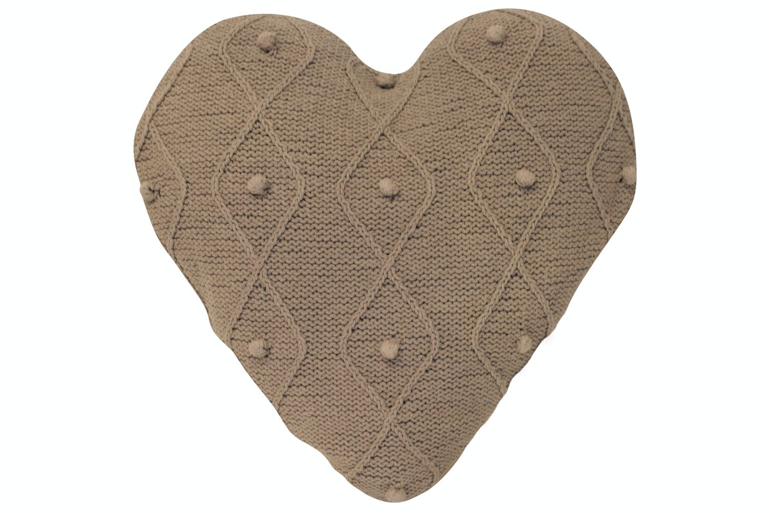 Argyll Heart Cushion Taupe