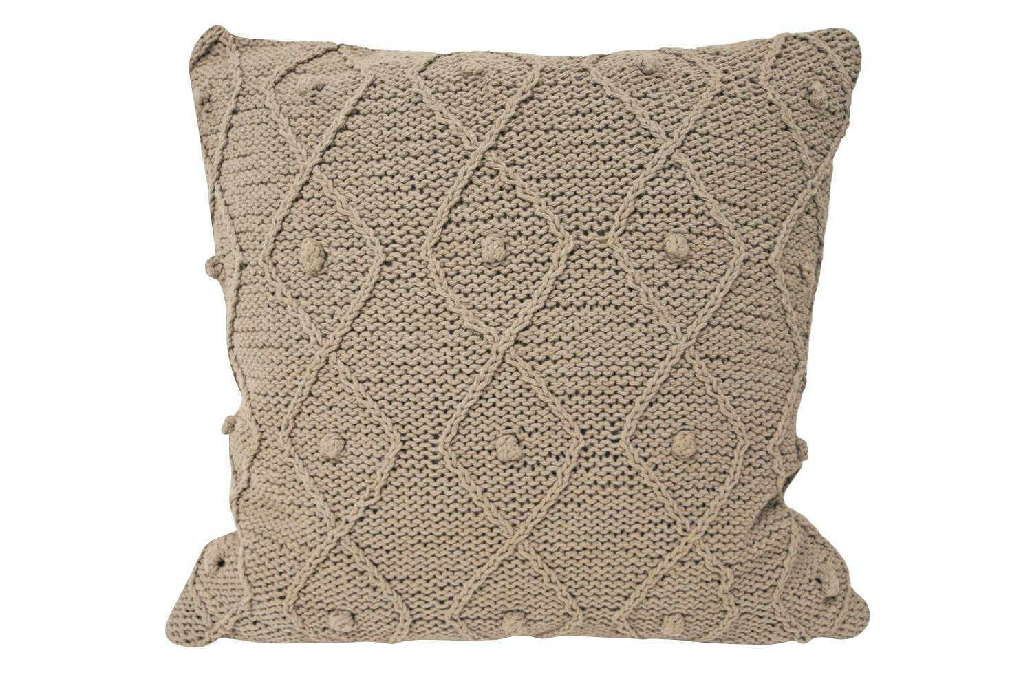 Argyll Feather Filled Cushion Taupe