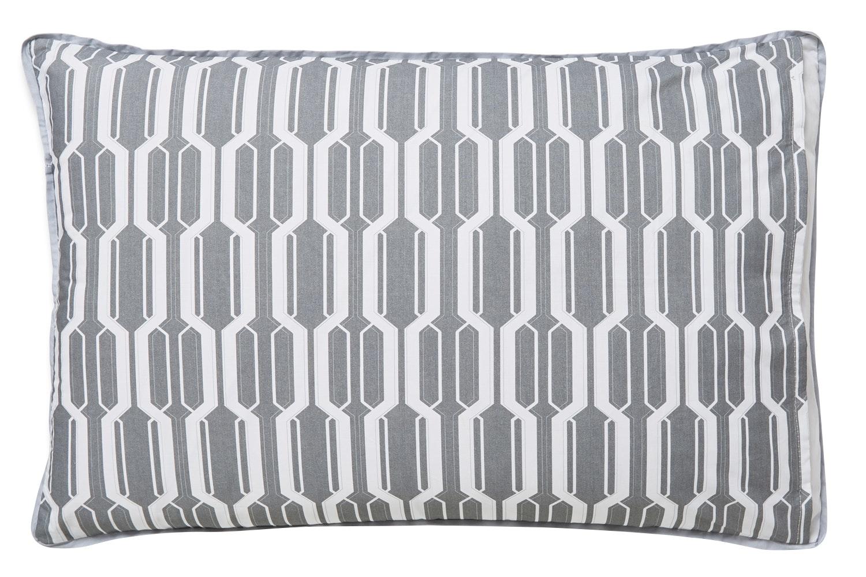 Geo Cotton Print Grey Duvet Set | King