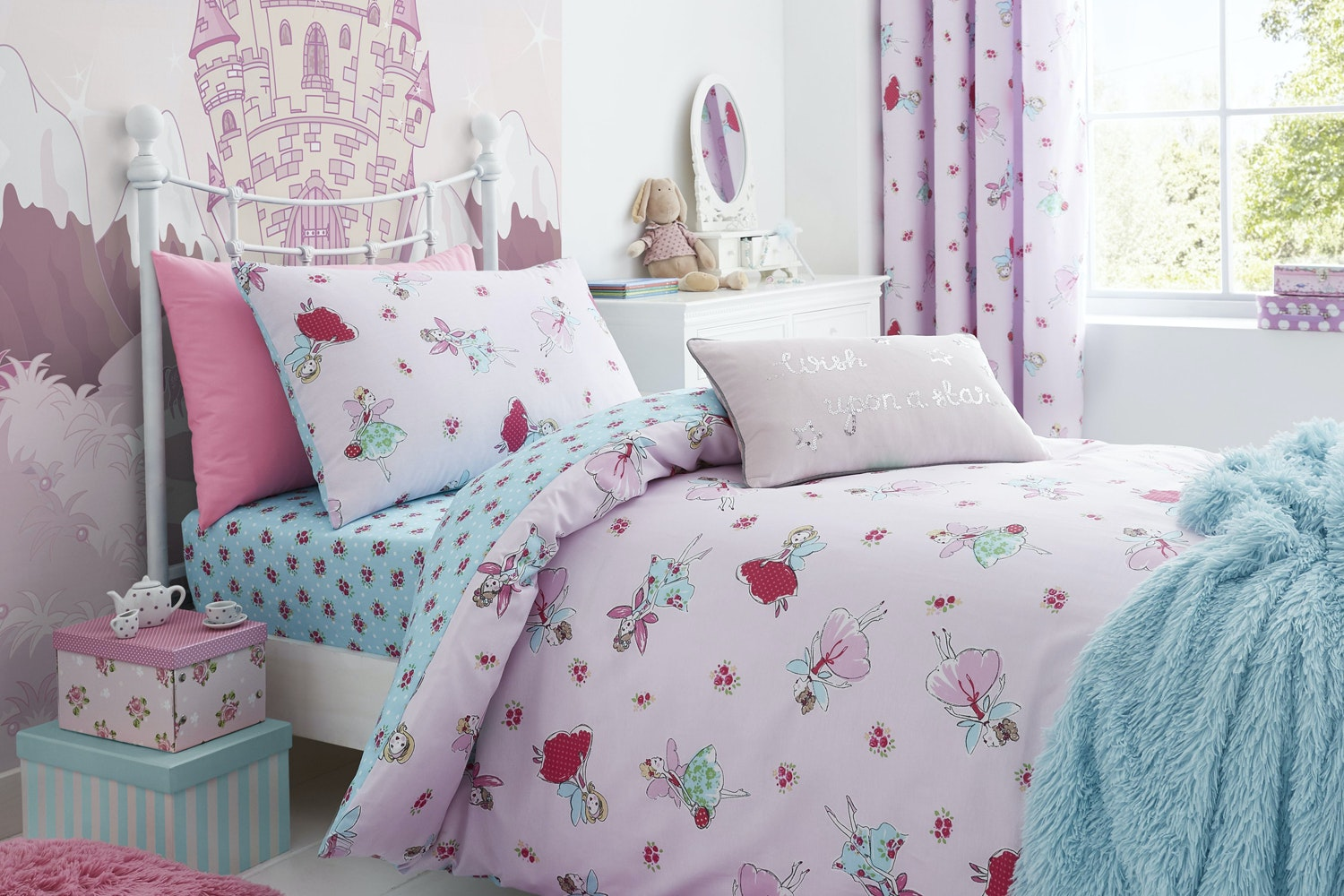 Fairies Pink Duvet Cover | Single