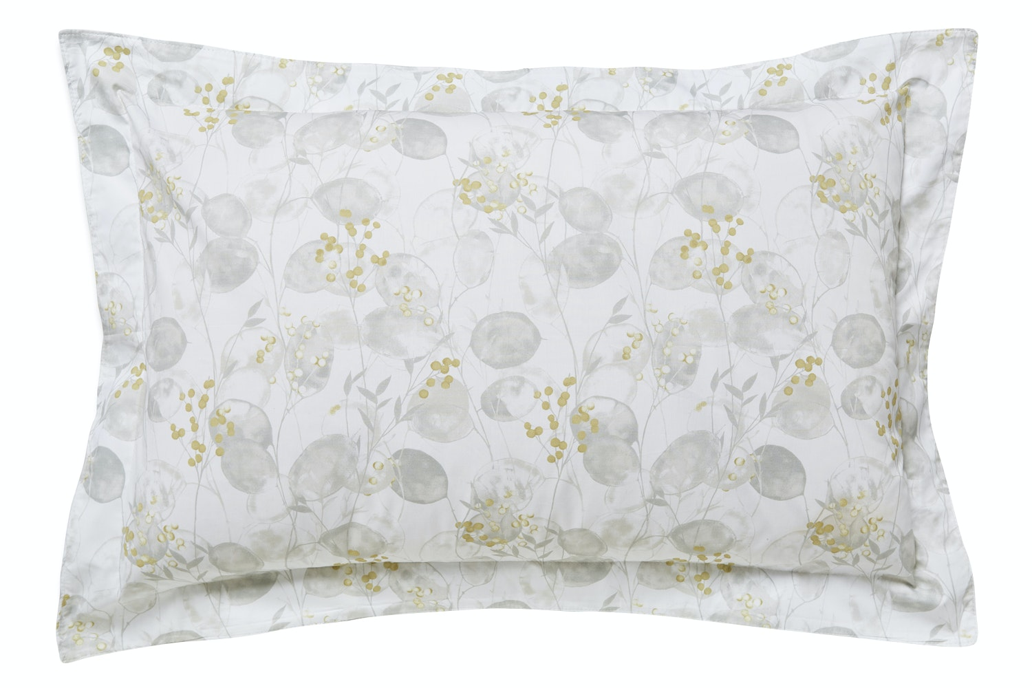 Honesty Cotton Print Neutral Oxford Pillow Case