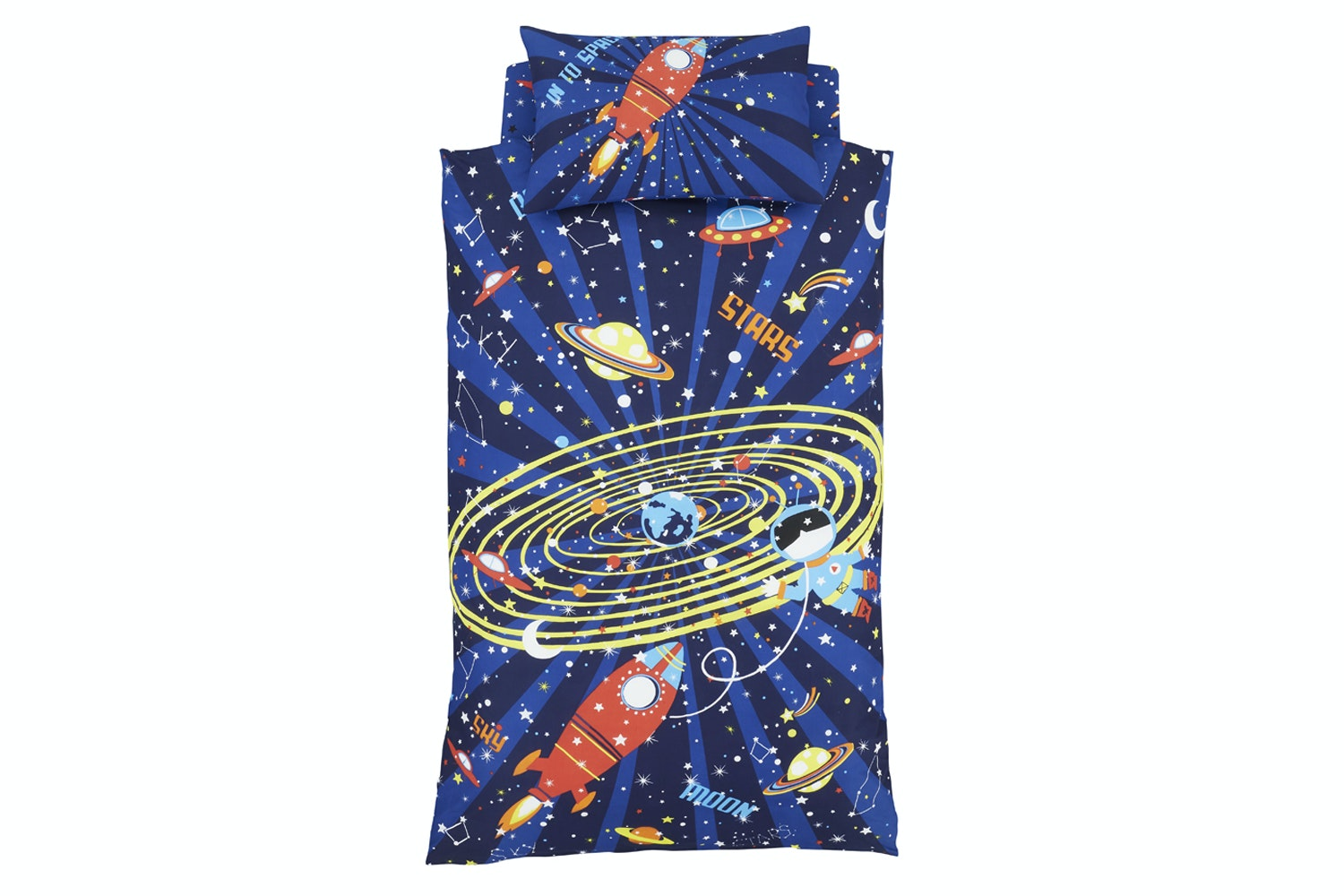 Outer Space 2 Blue Duvet Cover Set | Single