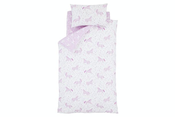 Folk Unicorn Pink Fitted Sheet | Single