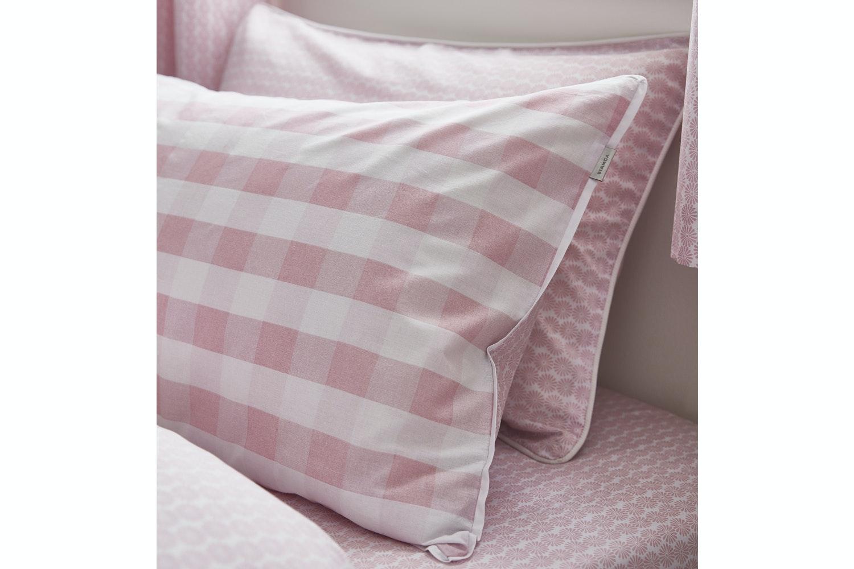 Gingham Cotton Print Blush Duvet Cover | Single