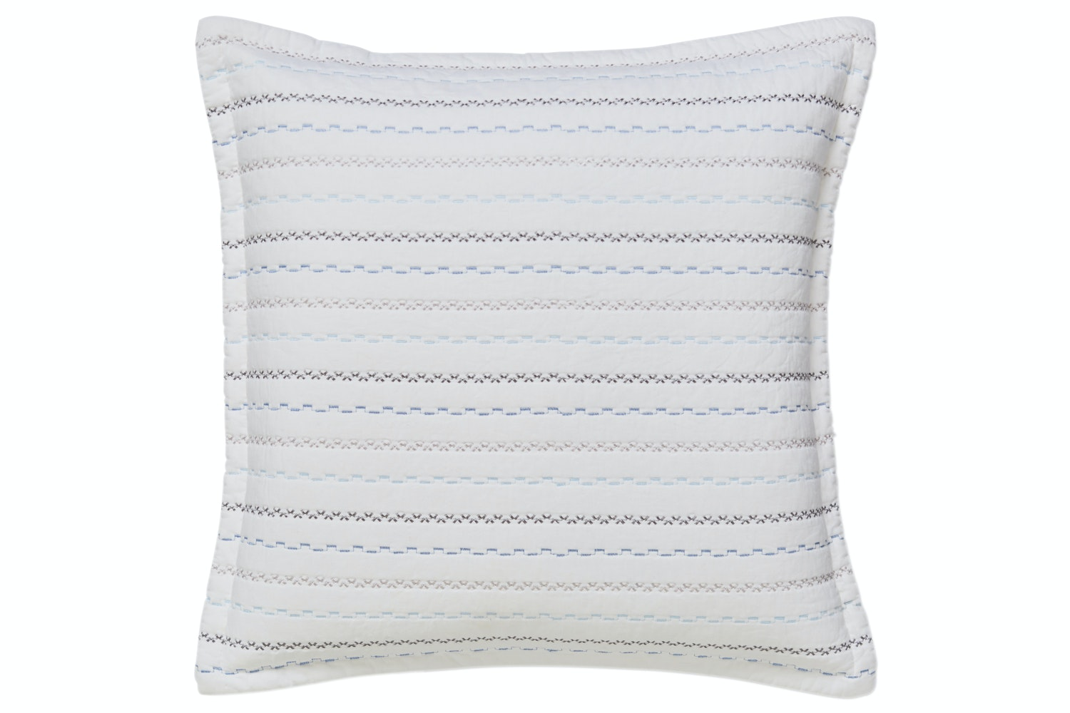 Blue Folk Cotton Cushion