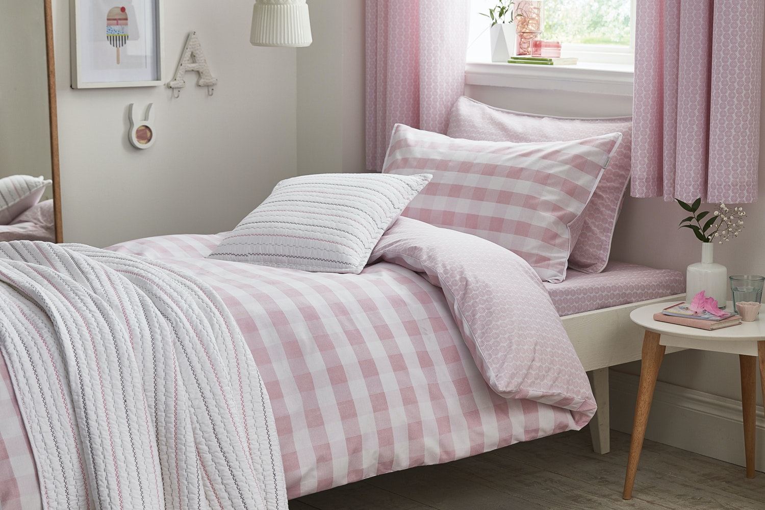Pastel Folk Cotton Bedspread