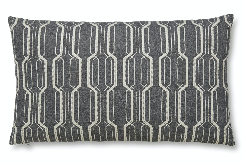 Geo Embroidered Cushion