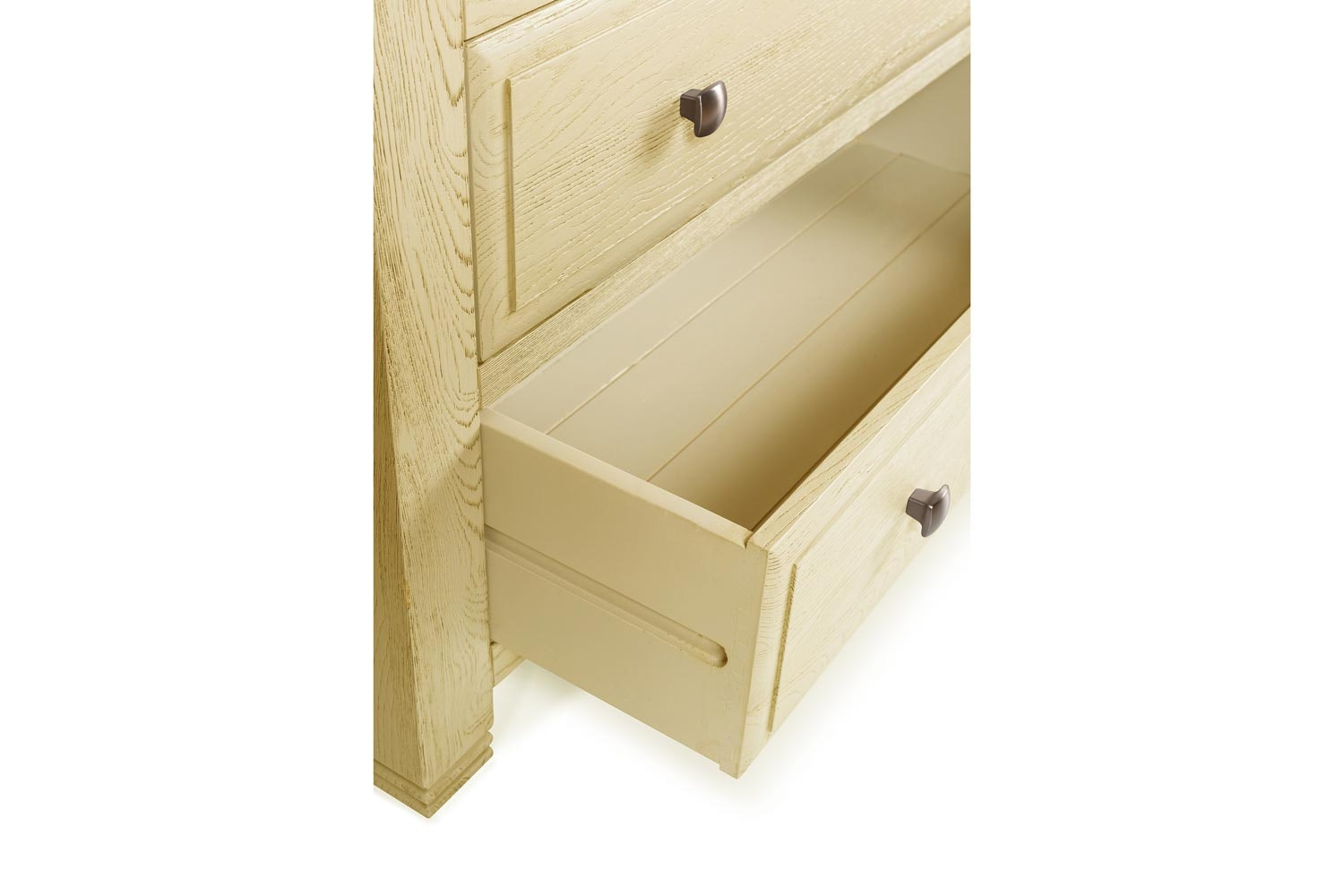 Lancaster 2+4 Chest of Drawers | Aged Cream/Oak