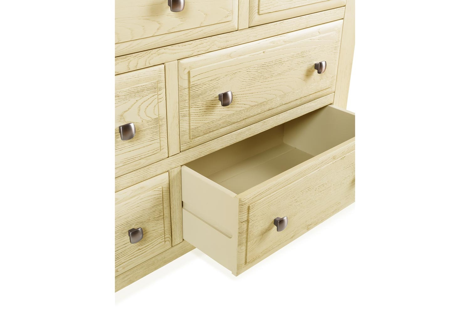 Lancaster 3+4 Chest of Drawers | Aged Cream/Oak