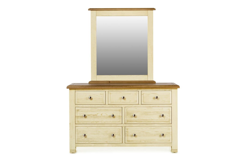 Lancaster Mirror | Aged Cream/Oak